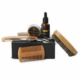 Hair & Beard Comb Brush Set for Men 100% Natural Boar Bristl