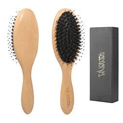 Hair Brush,Best Boar Bristle Hair Brush for Men Women,Natura