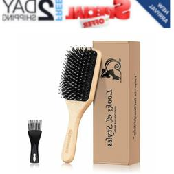 Hair Brush, Sosoon Boar Bristle Paddle Hairbrush for Long, T