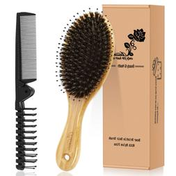 Hair Brush Comb Set Boar Bristle Hairbrush for Curly Thick L