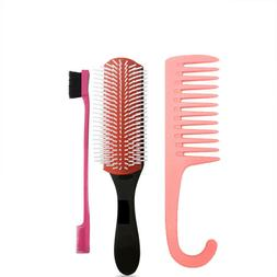 Hair Brush Cushion 9-Row Curl Define Detangler Wet Dry strai