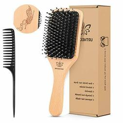 Hair Brush, Boar Bristle Hairbrush for Thick, Thin, Curly, L