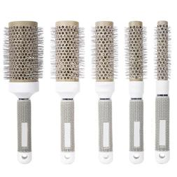 Hair Brush Nano Thermal Ceramic Ionic Round Comb Styling Hai