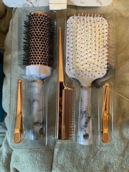 Lily England Hair Brush Set Paddle Brush Round Blow Drying H