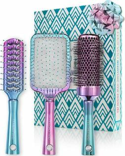 Lily England Hair Brush Set - Professional Round, Vent and P