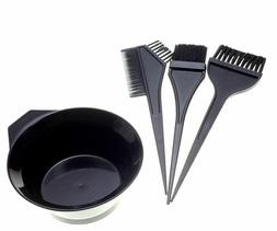 Hair Coloring Brush & Bowl 4 Pcs Set Tint Tool Bleach Dye Co