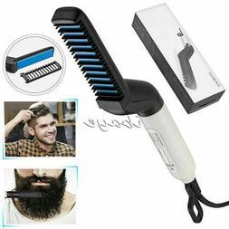 Hair Comb Men's Multifunctional Quick Beard Straightener Cur