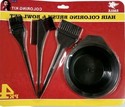 Hair Dye Color Brush Bowl Combo Coloring Brush Kit 4 pieces