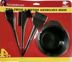 Hair Dye Color Brush Bowl Combo Coloring Brush Kit 4 pieces