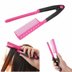 Hair Hairdressing Brush Hair Solon Tools V Type Hair Straigh