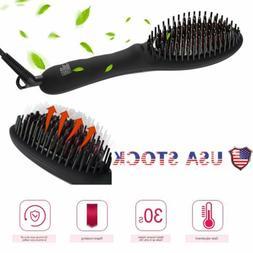 Hair straightener brush Anti-Scald Portable Frizz-Free Hair