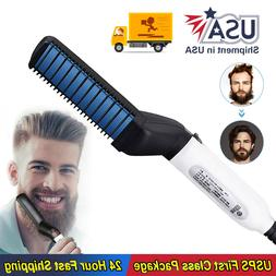 hair straightener brush quick beard comb curling