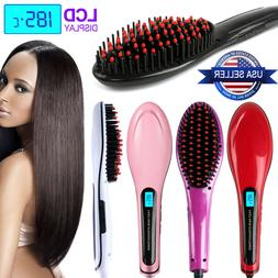 Hair Straightener Comb Electric LCD Auto Temperature Control