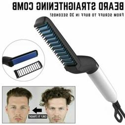 Hair Straightener For Men Multifunctional Comb Curling Elect