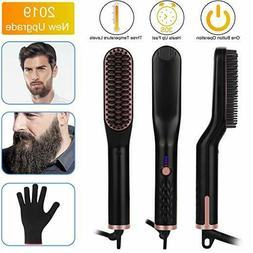 Hair Straightening Brush, Beard Straightener Brush, VEGKEY 3