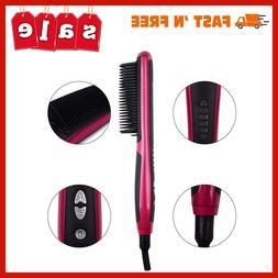 Hair Straightening Brush Patented Design Salon Quality Styli
