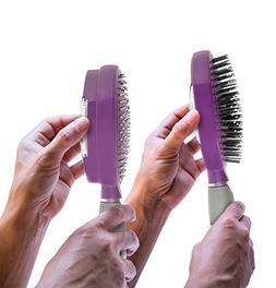 Qwik-Clean Hairbrush - Easy Clean, Self-Cleaning Hair Brush