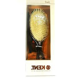 Kent Hairbrush Womens Thinning Hair Soft Real Bristles White