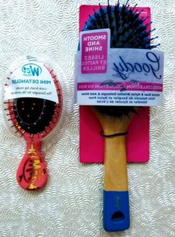 Hairbrushes Goody Smooth and Shine Boar Hair Brush & Wetbrus