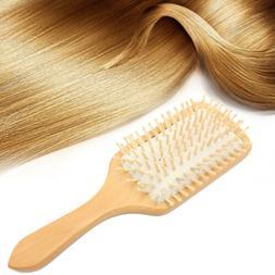 Handmade Natural Wooden Massage Head Scalp Straight Curly Ha