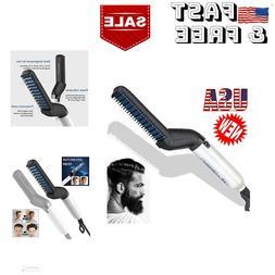 Heated Beard Straightener Hair Straightening Curler Comb Ele
