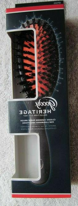 Goody Heritage Classic Cushion Smoothing Purse Hair Brush Na