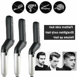 Hot Curling Iron Beard Hair Straightener Comb Electric Curli