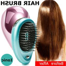 HOT Portable Electric Ionic Hairbrush Takeout Mini Ion Hair