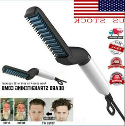 Hot Sale Men's Curling Iron Beard Hair Straightening Comb El