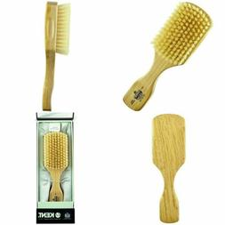 Kent Os11 Dual Timber Rectangular Club Hair Brush. Beautiful