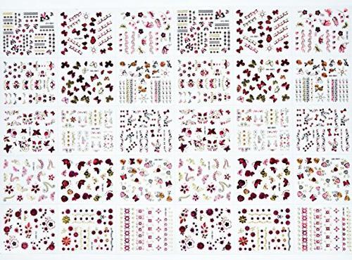 1 Set 3D Nail Stickers Transfer Wrap Tattoos Stamp Plates Tools Tips Kits Good-looking Popular Christmas Snow Vinyls