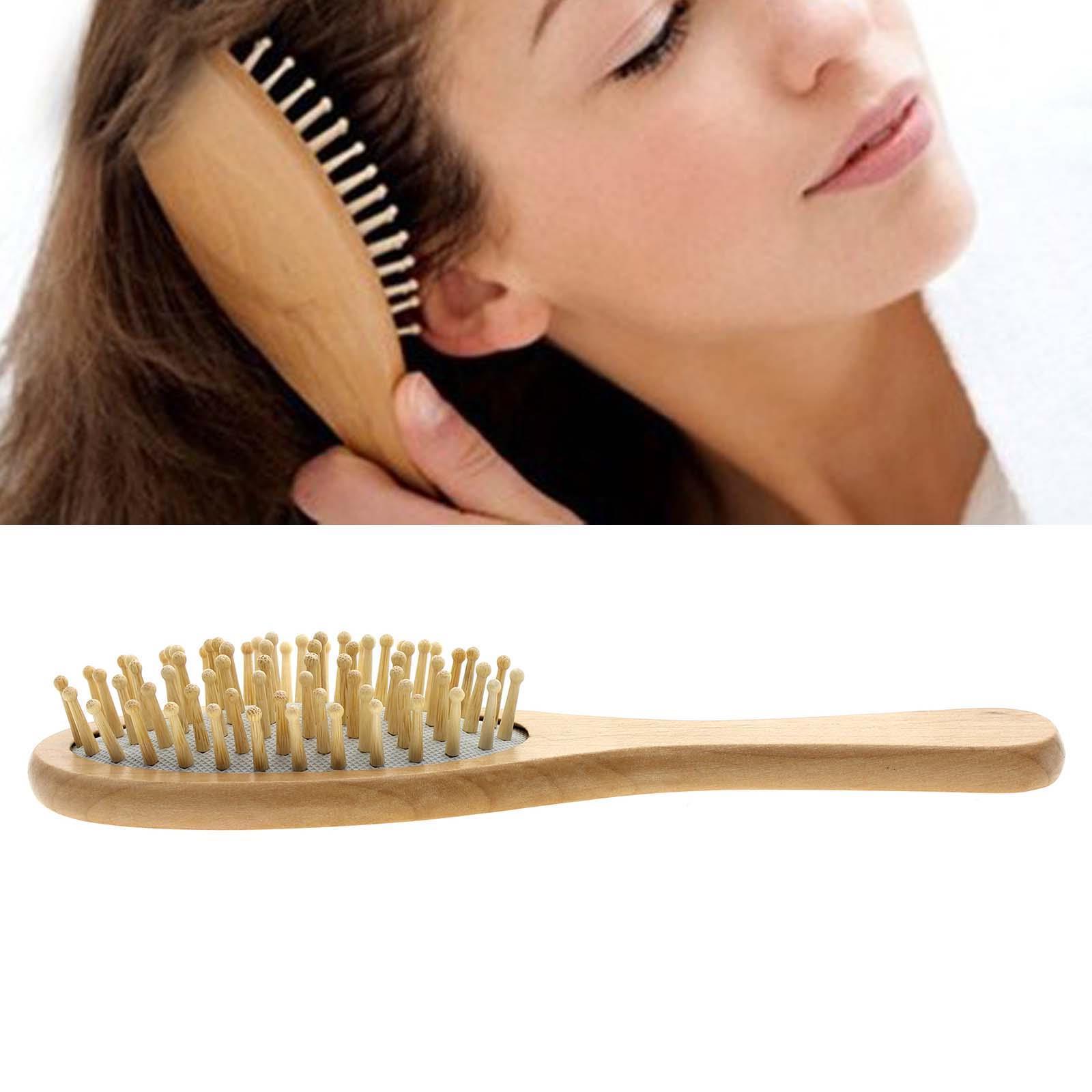 1 wooden natural bamboo hair vent brush