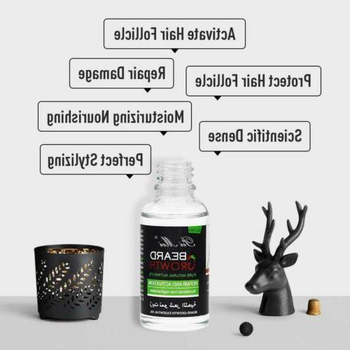 100% Beard Hair Growth Oil Balm Wax Conditioner Care 30ml