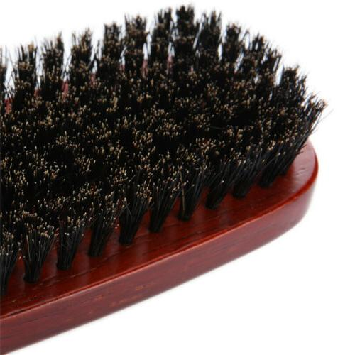 100% Pure Bristle Hair Brush Beard Mustache Comb Long Wooden For Men