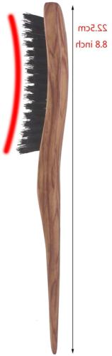 100% Teasing Brush Wooden Handle, 3 Slim Brush,