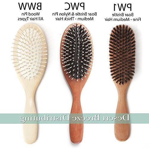 100% Pure Bristle Bristles, Fine Hair Thickness, Pear Handle, in Premium Hairbrush, Desert Breeze