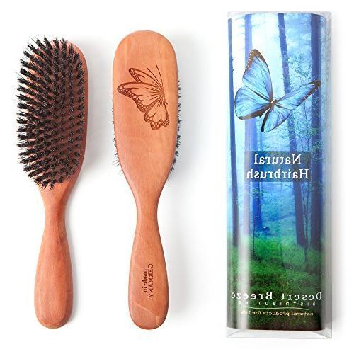100 pure wild boar bristle hair brush model pw1 1st cut natu