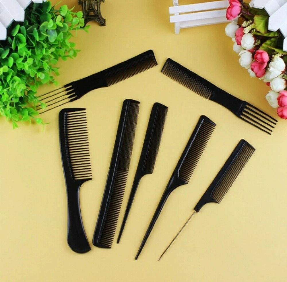 10Pcs Salon Hair Hairdressing Plastic Barbers Brush