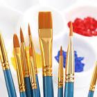10pcs nylon hair acrylic watercolor round pointed
