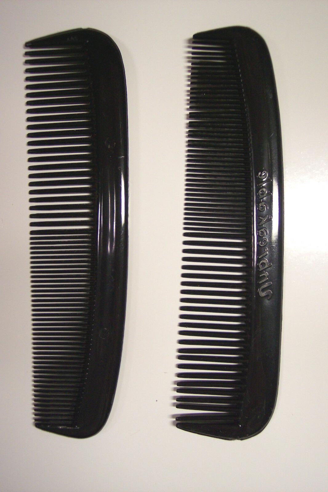 12 UNBREAKABLE HEAVY BLACK HAIR COMBS USA MADE