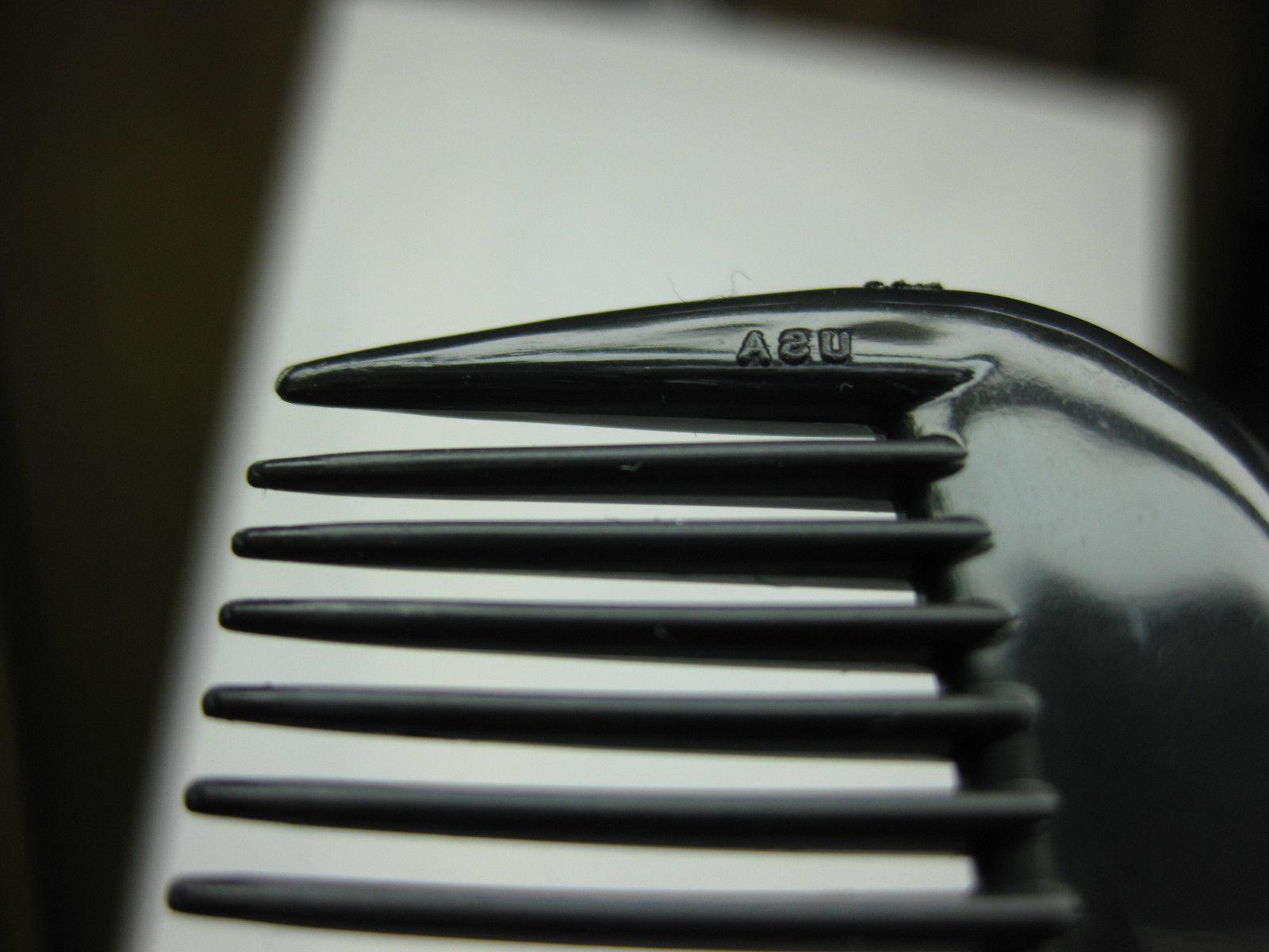 12 UNBREAKABLE BLACK PLASTIC POCKET HAIR MADE