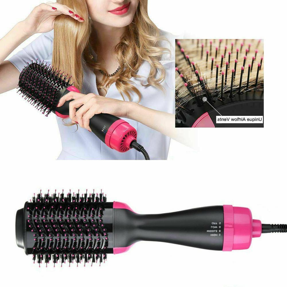 2 1 Comb Professional Brush Hair Straightener Curler Comb