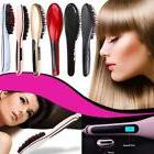 2-in-1 Electric Hair Straightener Comb LCD Ion Brush Auto Ma