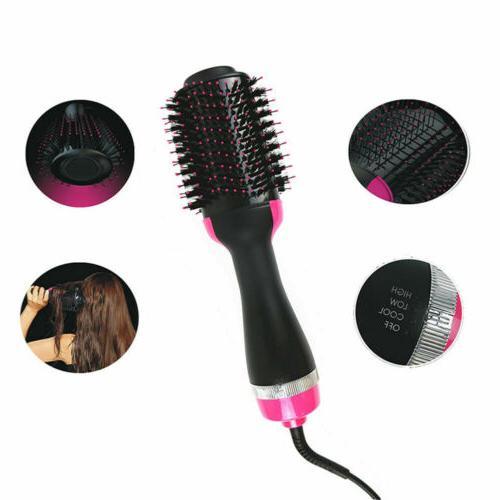2 In Hair Brush Hair Straightener Curler Electric