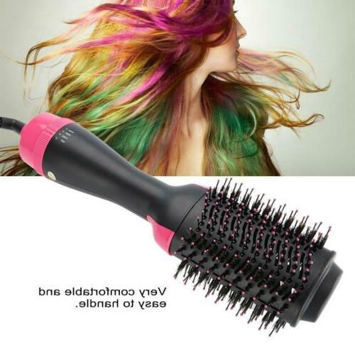 2 In 1 Hair Brush Hair Straightener Curler Electric