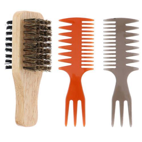 2x 3 way men oily hair pick