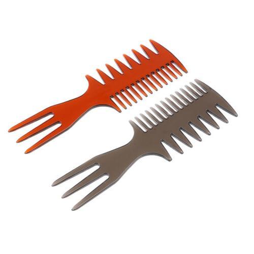 2x 3-way Hair Home Hair Beard Brush Styling