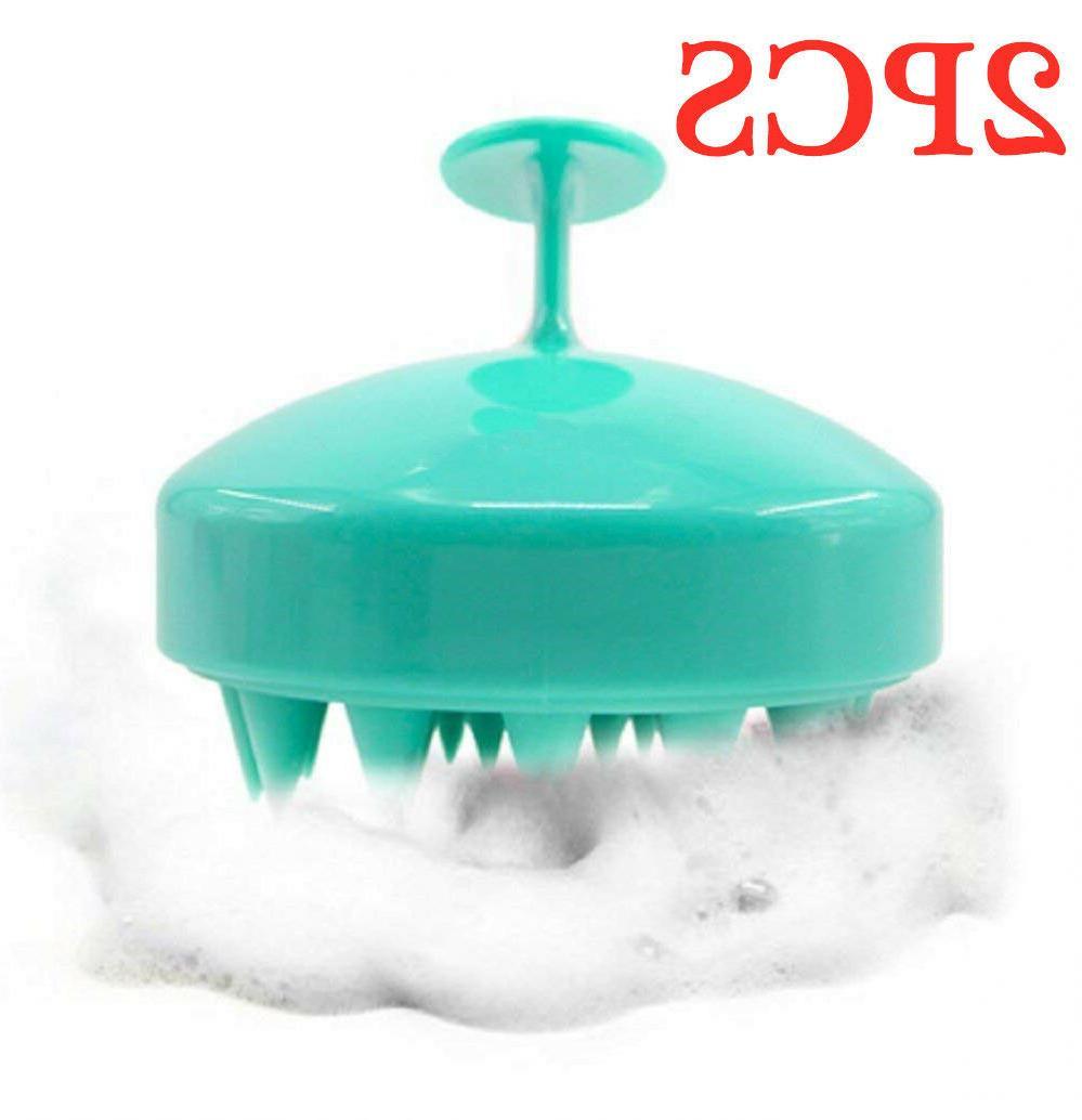 2pcs Hair Massager Shampoo Brush, Care