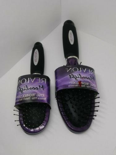 2x moonlight ionic technology cushion hair brush