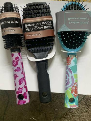 3 hair brush soft for women